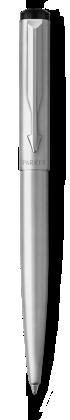 Image for Parker Vector Stainless Steel Ballpoint Pen, Chrome Colour Trim, Medium Tip, Blue Ink from Parker UK