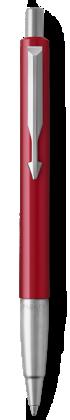 Image for Parker Vector Red Ballpoint Pen, Chrome Colour Trim, Medium Tip, Blue Ink from Parker UK