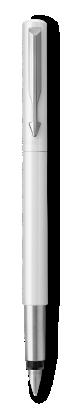 Image for Parker Vector White Fountain Pen, Chrome Colour Trim, Fine Nib, Blue Ink from Parker UK