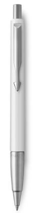 Image for Parker Vector White Ballpoint Pen, Chrome Colour Trim, Medium Tip, Blue Ink from Parker UK
