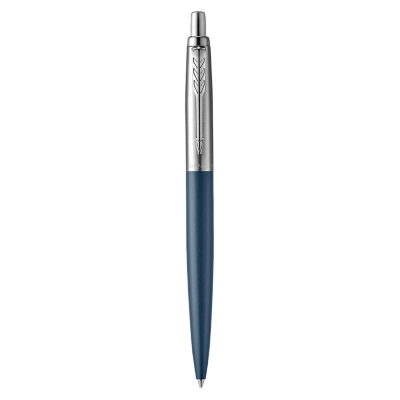 Jotter XL Primrose Matte Blue Ballpoint Pen, Chrome Coloured Trim, Medium Nib, Blue Ink
