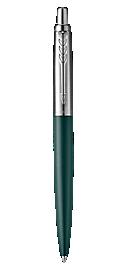 Jotter XL Greenwich Matte Green Ballpoint Pen, Chrome Coloured Trim, Medium Nib, Blue Ink
