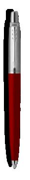 乔特复古红凝胶水笔,细笔尖