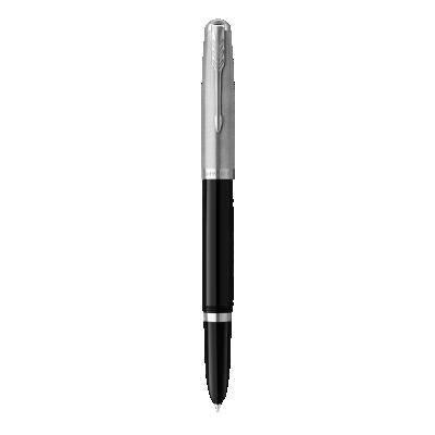 PARKER 51 Black Resin Chrome Trim Fountain Pen