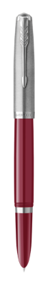 Image for PARKER 51 Burgundy Resin Chrome Trim Fountain Pen - Medium nib from Parker UK