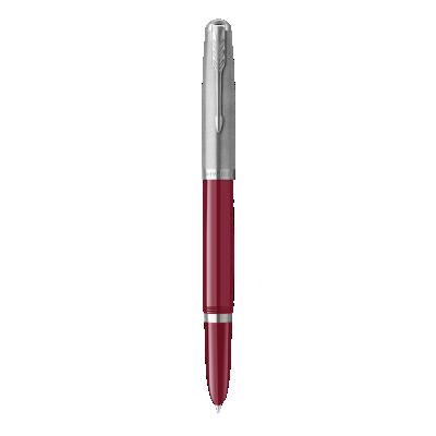 PARKER 51 Burgundy Resin Chrome Trim Fountain Pen