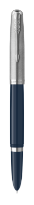 Image for PARKER 51 Midnight Blue Resin Chrome Trim Fountain Pen - Medium nib from Parker UK