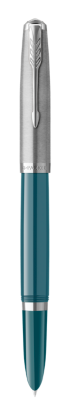 Image for PARKER 51 Teal Blue Resin Chrome Trim Fountain Pen - Medium nib from Parker UK