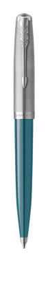 Image for PARKER 51 Teal Blue Resin Chrome Trim Ballpoint Pen - Medium Point from Parker UK