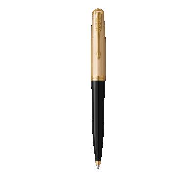 PARKER 51 Black Resin Gold Trim Ballpoint Pen