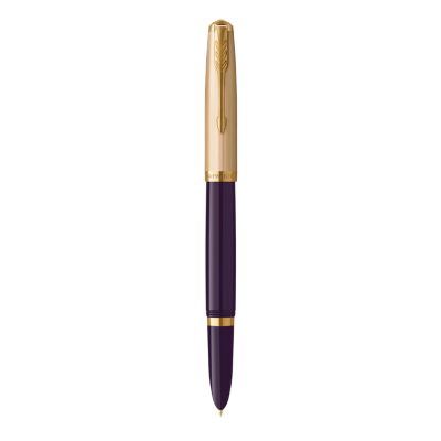PARKER 51 Plum Resin Gold Trim Fountain Pen