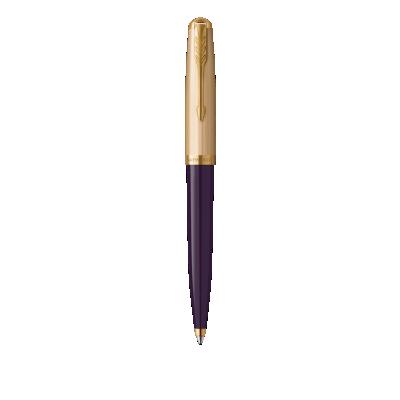 PARKER 51 Plum Resin Gold Trim Ballpoint Pen