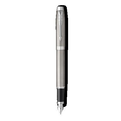 Parker IM Stainless Steel with Chrome Trim, Fountain Pen, Medium nib