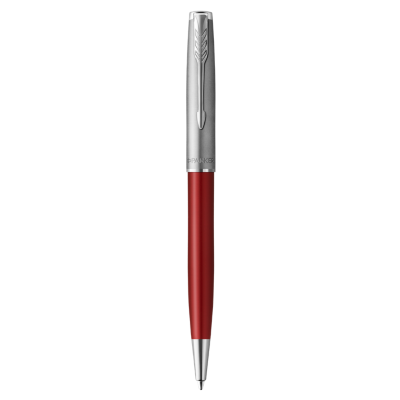 Sonnet Ballpoint Pen Metal & Red Lacquer - Medium Point