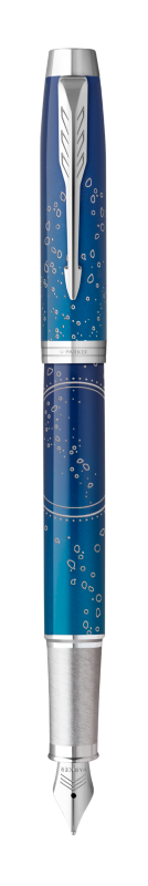 Parker IM Submerge Fountain Pen Premium Blue CT - Fine nib
