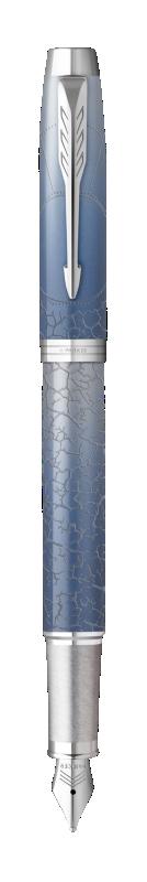 Parker IM Polar Fountain Pen Premium Grey CT - Fine nib