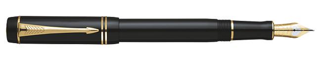 Duofold Black International Fountain Pen - Fine 18K gold nib