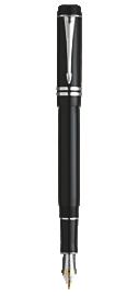 Duofold Black International Fountain Pen - Medium 18K gold nib