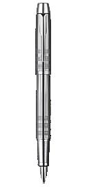 IM Premium Shiny Chrome Metal Chiselled Fountain Pen - Medium stainless steel nib
