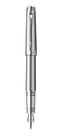 Premier Monochrome Titanium Fountain Pen - Medium 18K gold nib