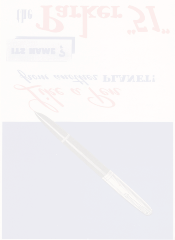 Historical 1940s graphic press advert for the original Parker 51 reflection