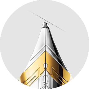 OBLIQUE PEN-NIBS/OBLIQUE PEN-NIBS ORIENTED WITH A CONTRARY SENSE