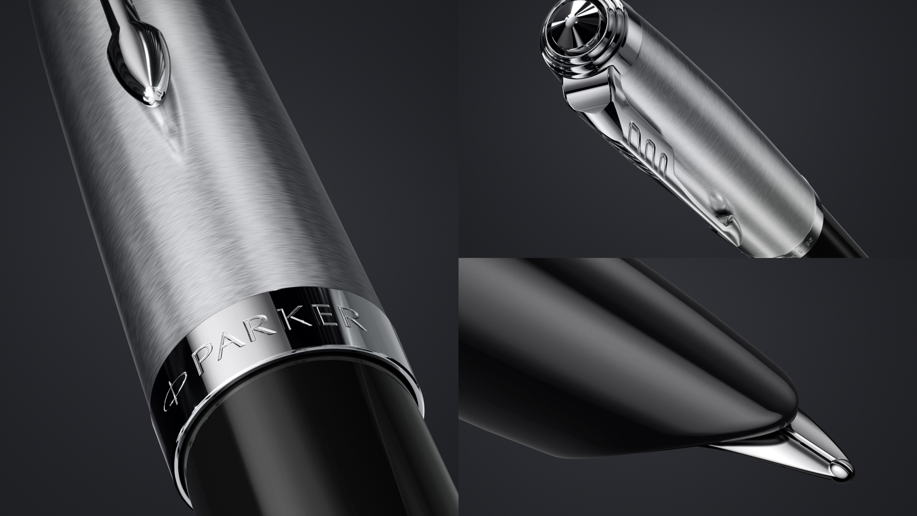 The iconic hooded nib of Parker 51 Black