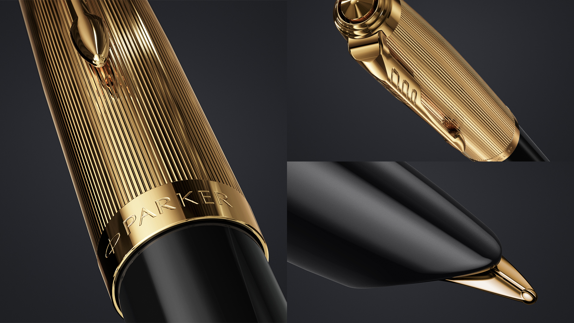 The iconic hooded nib of Parker 51 Deluxe Black
