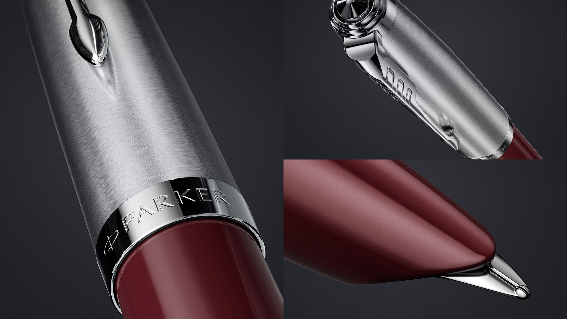 The iconic hooded nib of Parker 51 Burgandy